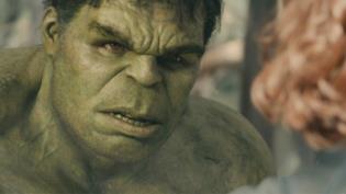 Un primo piano di Hulk in Avengers: Age of Ultron