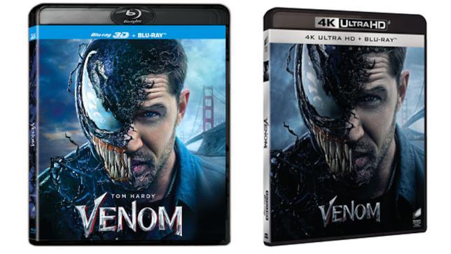 Venom - Home Video - 3D Blu-ray e 4K Ultra HD