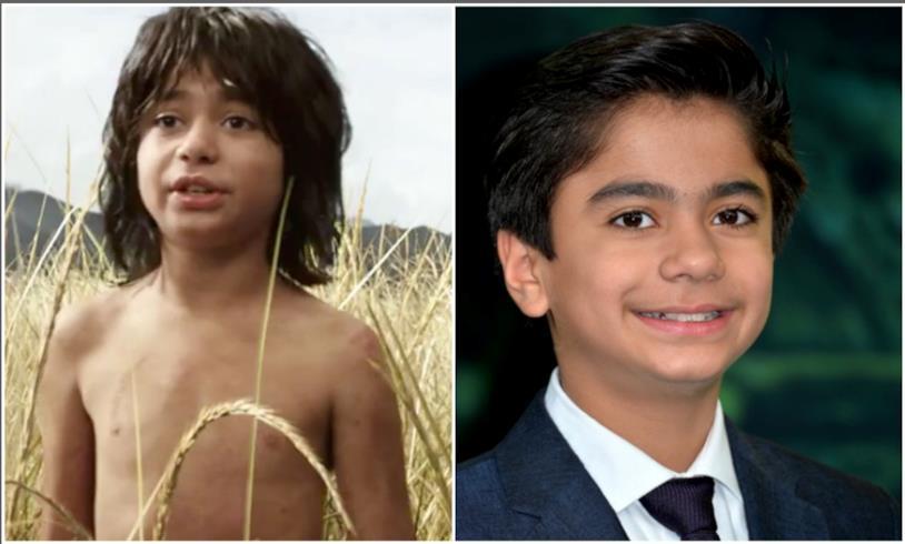 Mowgli e l'attore interprete ne Il libro della giungla 2016