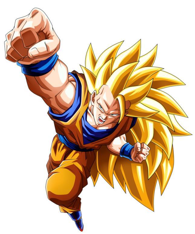 Goku trasformazione SSJ 3