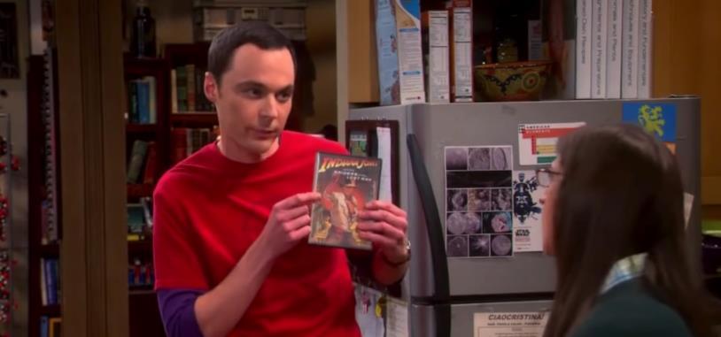Sheldon mostra il DVD de I predatori dell'Arca perduta a Amy