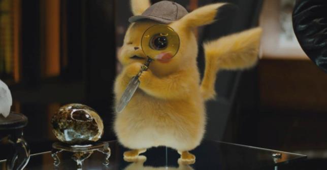 Pikachu con una lente d'ingrandimento