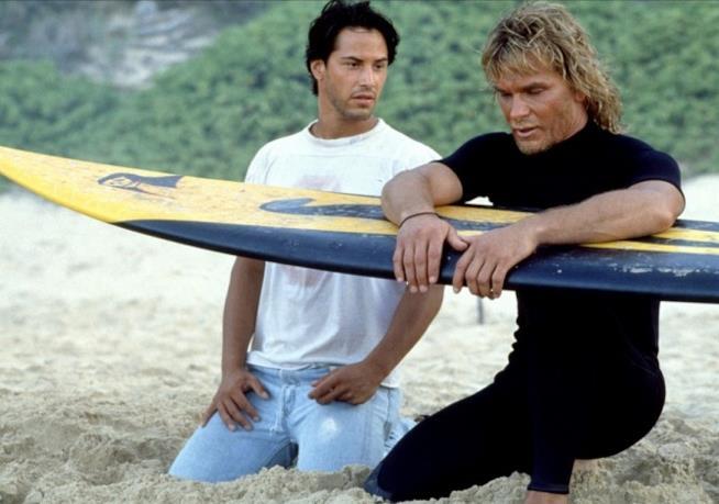Keanu Reeves e Patrick Swayze in Point Break