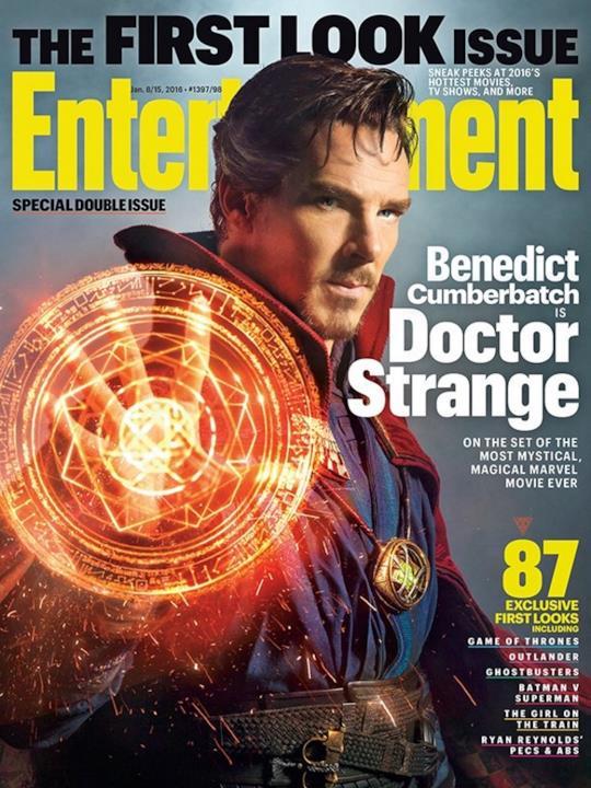 La copertina di EW dedicata a Doctor Strange