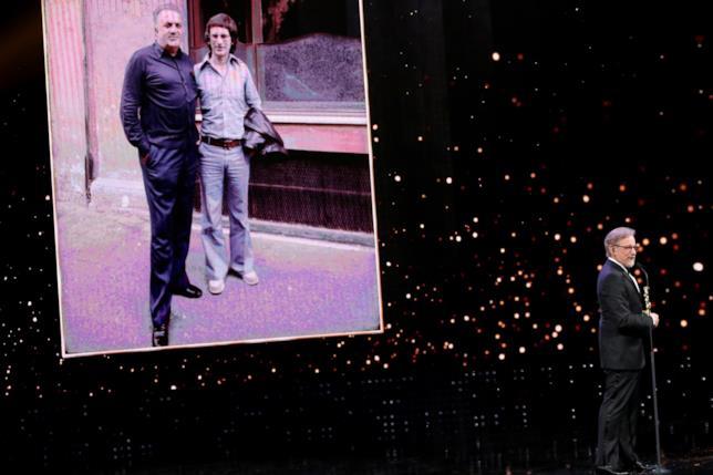 Steven Spielberg sul palco dei David di Donatello