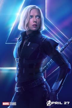 Il poster del personaggio di Black Widow