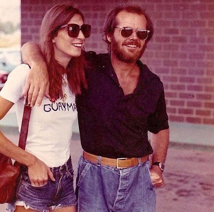 Jack Nicholson & Anjelica Houston da giovani