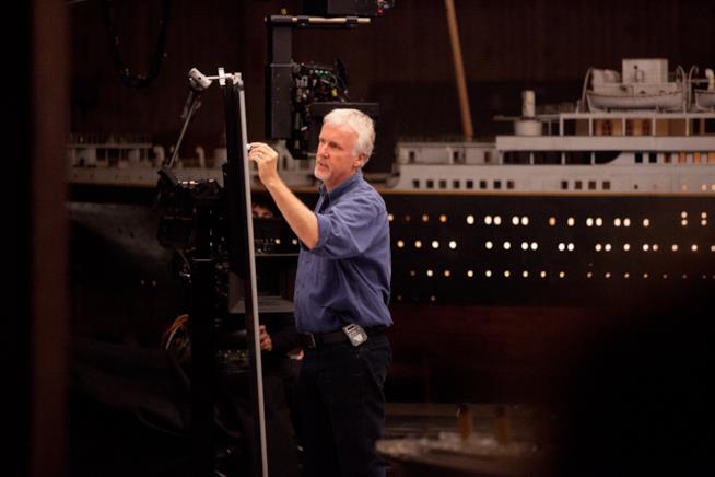 Il regista Cameron in uno scatto