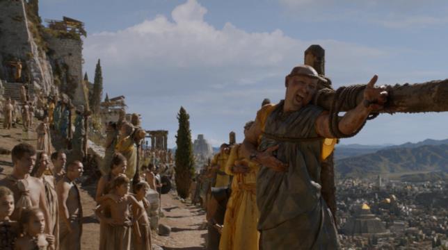 La crocifissione dei padroni in Game of Thrones
