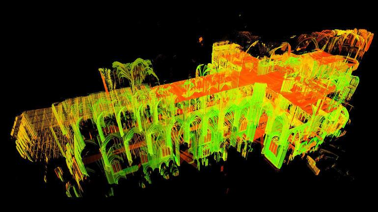 Notre Dame realizzata in 3D tramite scansione