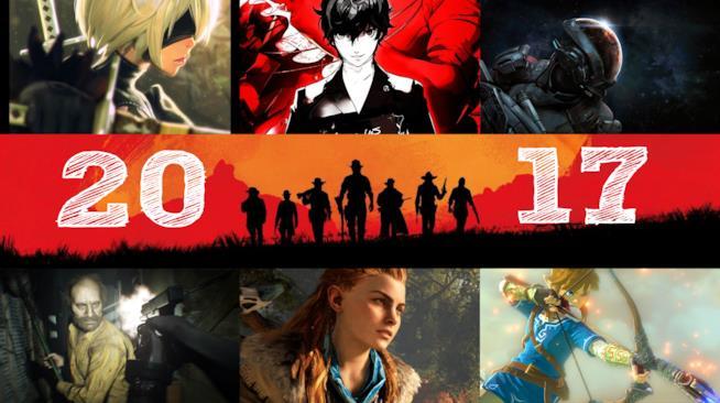 I volti di alcuni dei personaggi dei migliori videogame del 2017
