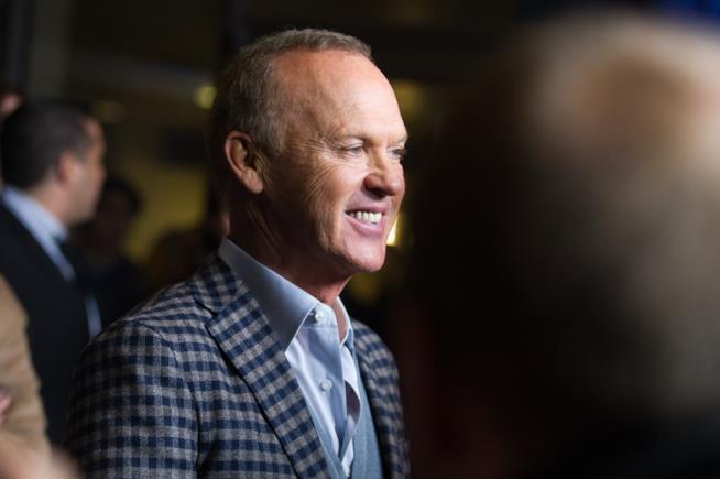 Michael Keaton alla premiere del suo ultimo film The Founder