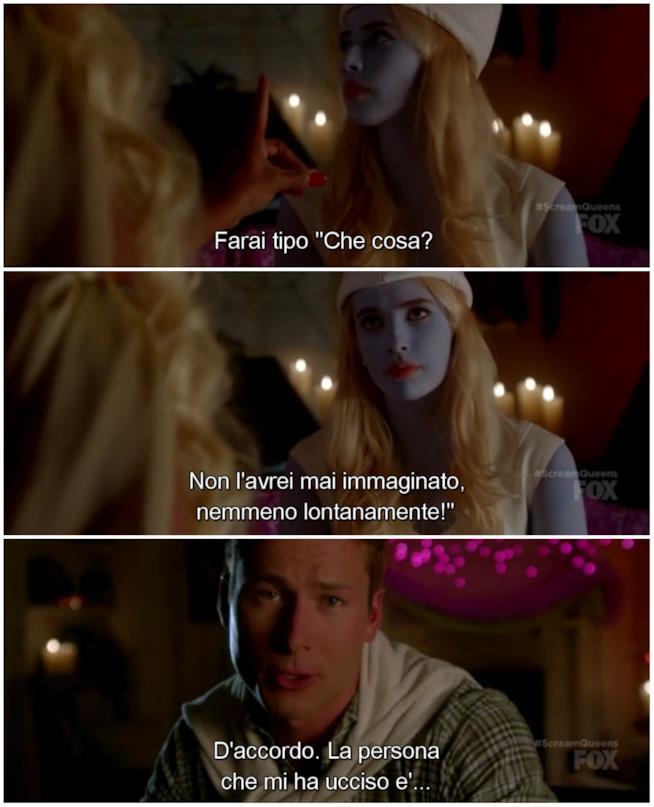 Chad morto parla con Chanel in Scream Queens