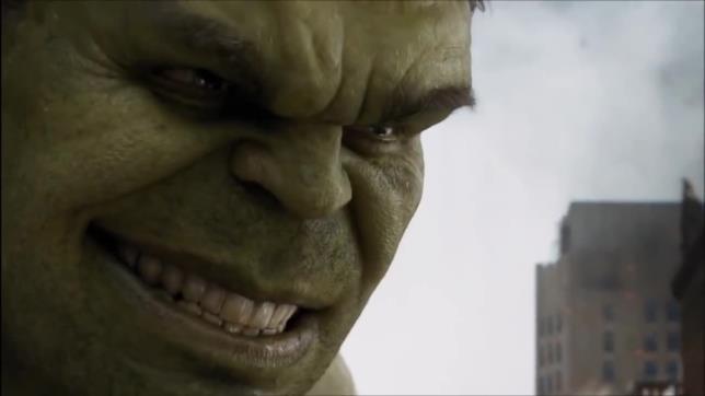 Hulk sorride