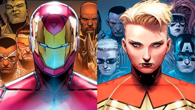 Iron Man e Capitan Marvel a confronto in Civil War II