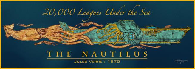 Il Nautilus e il calamaro gigante