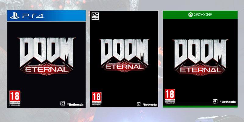 La copertina provvisoria di Doom Eternal