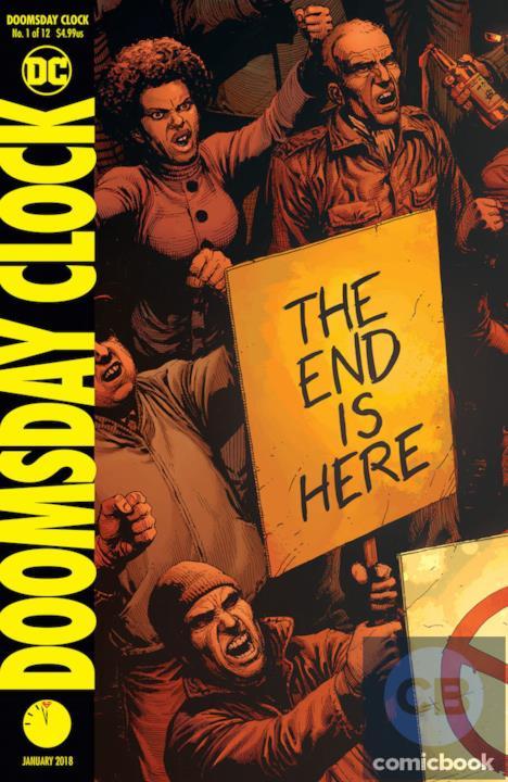 Copertina a colori di Doomsday Clock, sequel di Watchmen