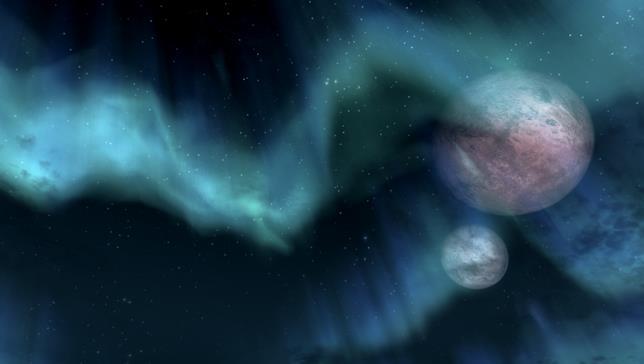 Un'immagine del cielo di Skyrim