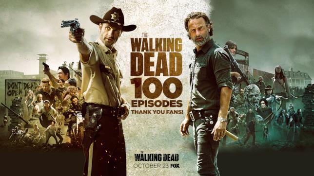 Il poster celebrativo per il centesimo episodio di The Walking Dead