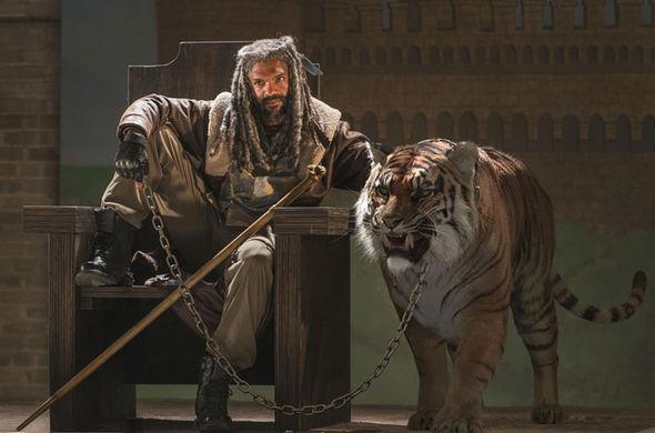 Ezekiel e Shiva in The Walking Dead