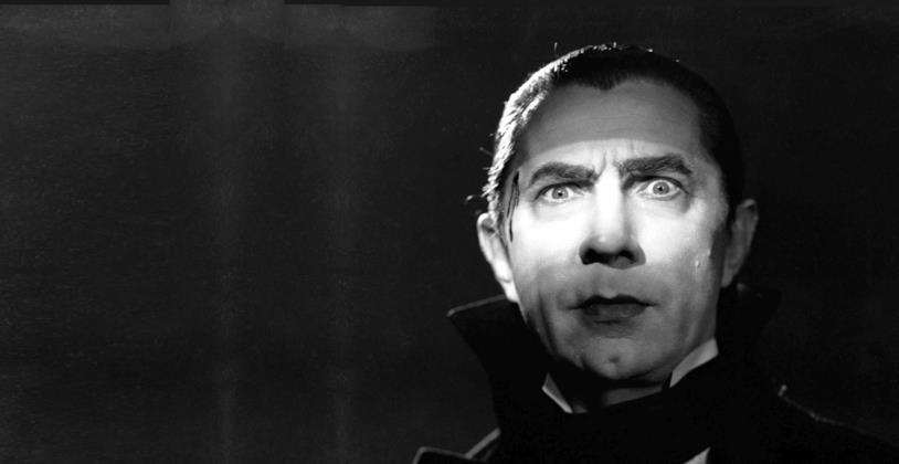 Il volto di Bela Lugosi nei panni di Dracula