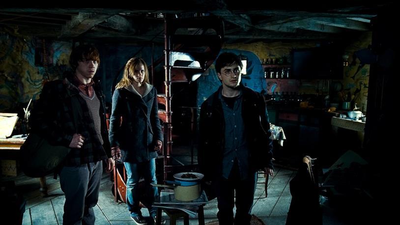 I tre protagonisti dei film di Harry Potter