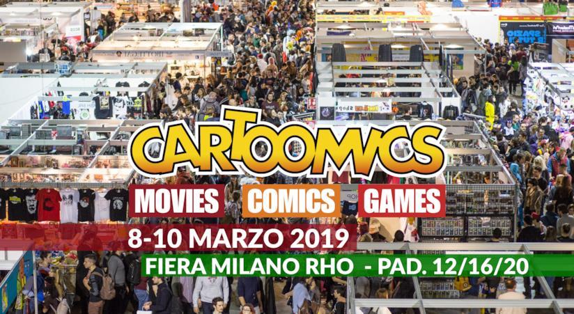 Banner pubblicitario ufficiale di Cartoomics 2019