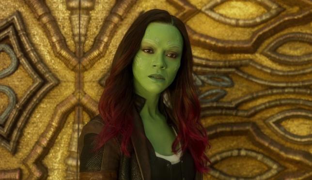 L'attrice Zoe Saldana