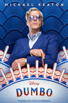 Il character poster di Dumbo dedicato a V. A. Vandevere