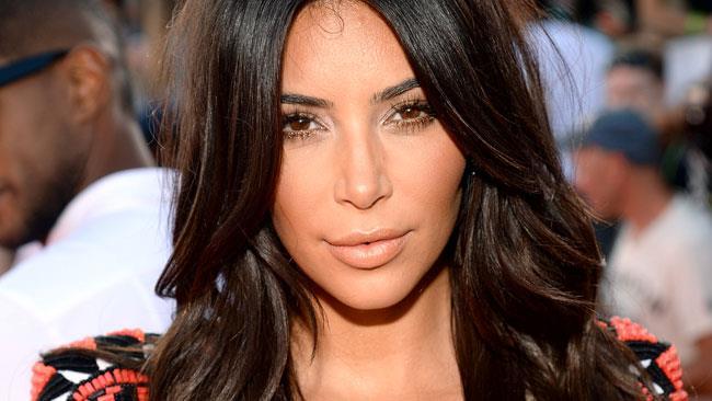 Primo piano di Kim Kardashian