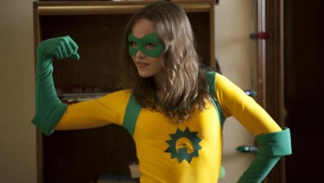 L'attrice in una scena del film Super