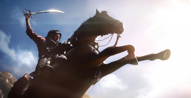 Un soldato a cavallo nel trailer di Battlefield 1