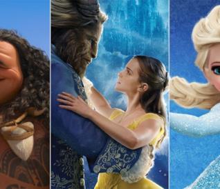 Maui, Belle e la Bestia ed Elsa