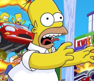 I Simpson Hit and Run, la copertina