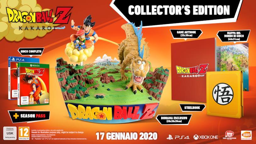 edizione da collezione videogioco Dragon Ball Z Kakarot