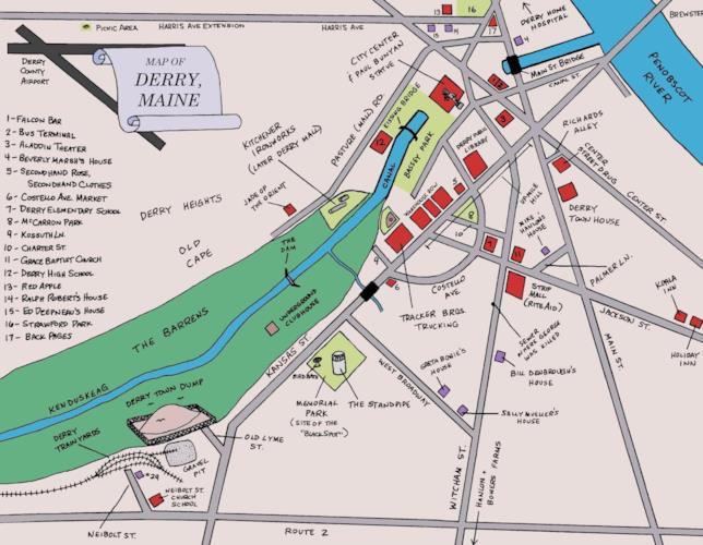 La cartina di Derry
