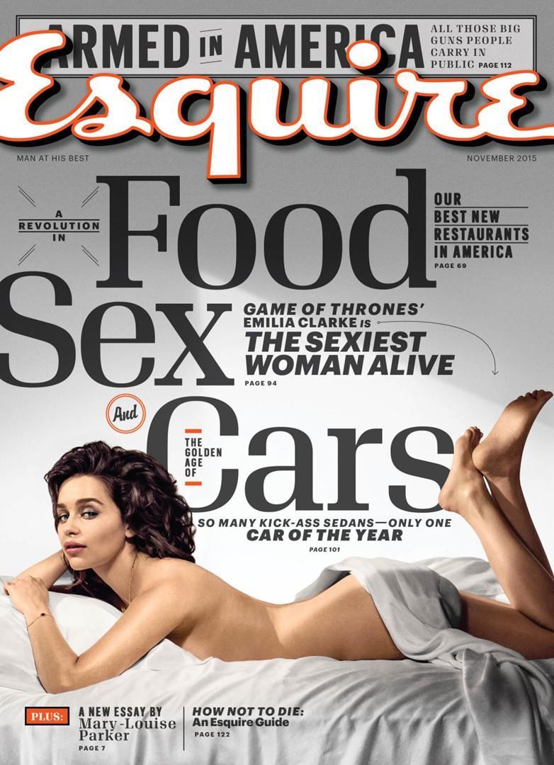 """Emilia Clarke sulla copertina di Esquire nei (pochi) panni di """"donna più sexy del mondo"""""""