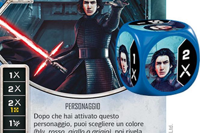 Kylo Ren nella sua nuova versione di Star Wars: Destiny
