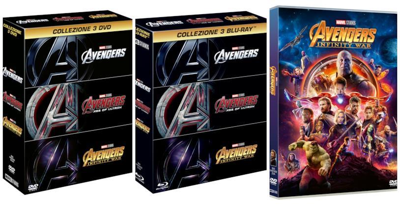 Il DVD e i cofanetti Blu-ray e DVD di Avengers: Infinity War