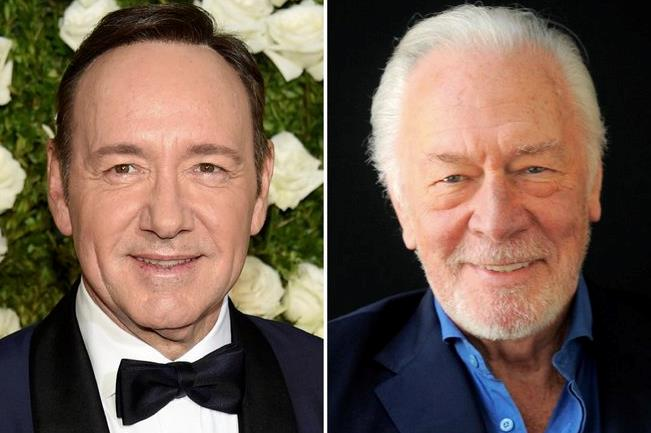 Un collage tra Kevin Spacey e Christopher Plummer