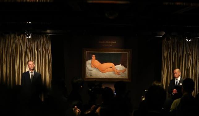 Soheby's di New York: l'asta per la vendita del dipinto Nu couche (sur le coté gauche) di Modigliani