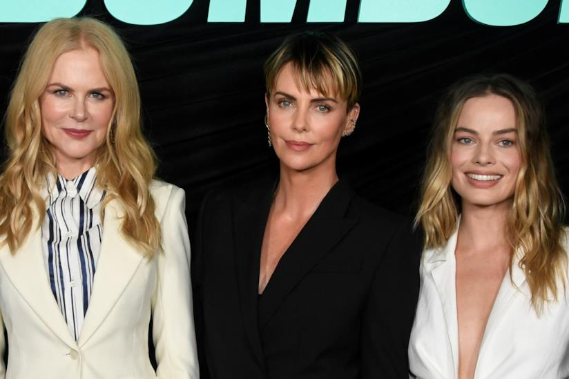 Nicole Kidman,Charlize Theron e Margot Robbie alla premiere di Bombshell