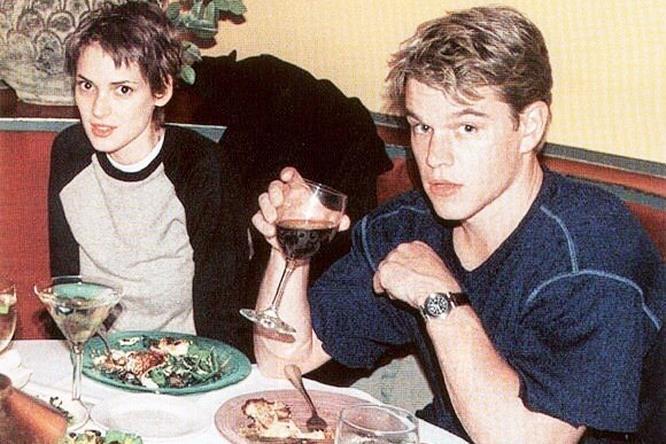 Uno scatto di Winona Ryder e Matt Damon da giovani
