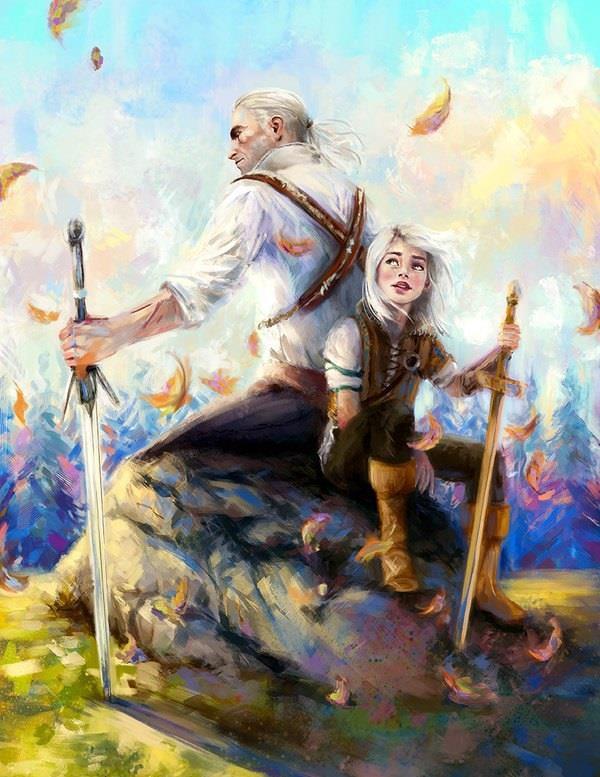 Lo Strigo Geralt e Ciri bambina