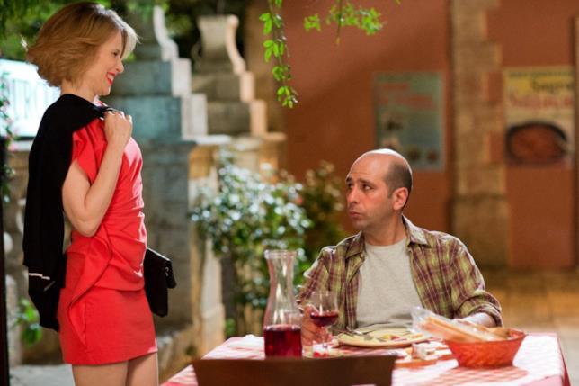 La Dottoressa Sironi e Checco a tavola in Quo vado?