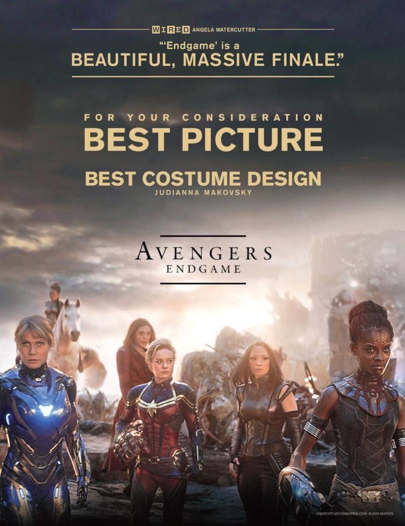 Il secondo poster di Avengers: Endgame per gli Oscar