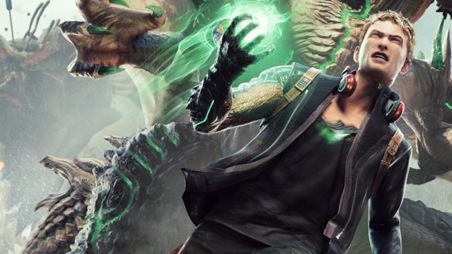 Il protagonista di Scalebound in azione con il suo drago