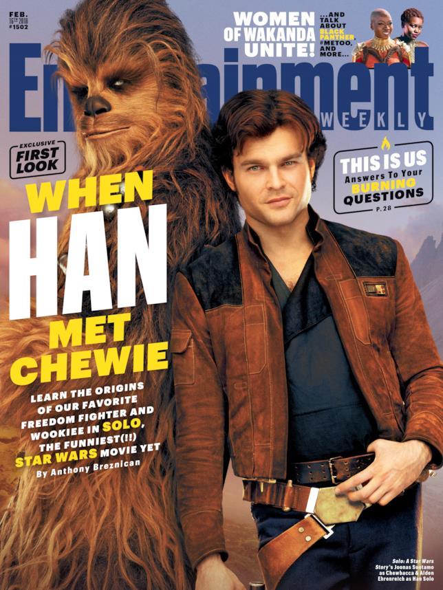 La cover di EW per Solo: A Star Wars Story