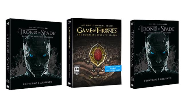 I boxset di Game of Thrones 7 DVD e Blu-ray